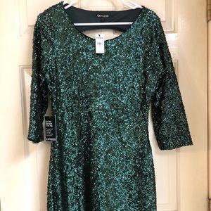 Express Emerald Sequin Dress